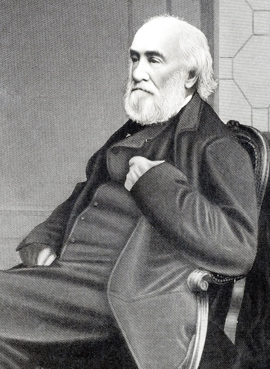 Spiritualist Joseph Peace Hazard (1807 - 1892) of Narragansett, Rhode Island.