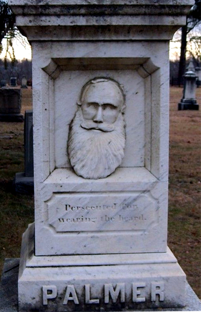 The grave of Joseph Palmer in Evergreen Cemetery, Leominster, Massachusetts.