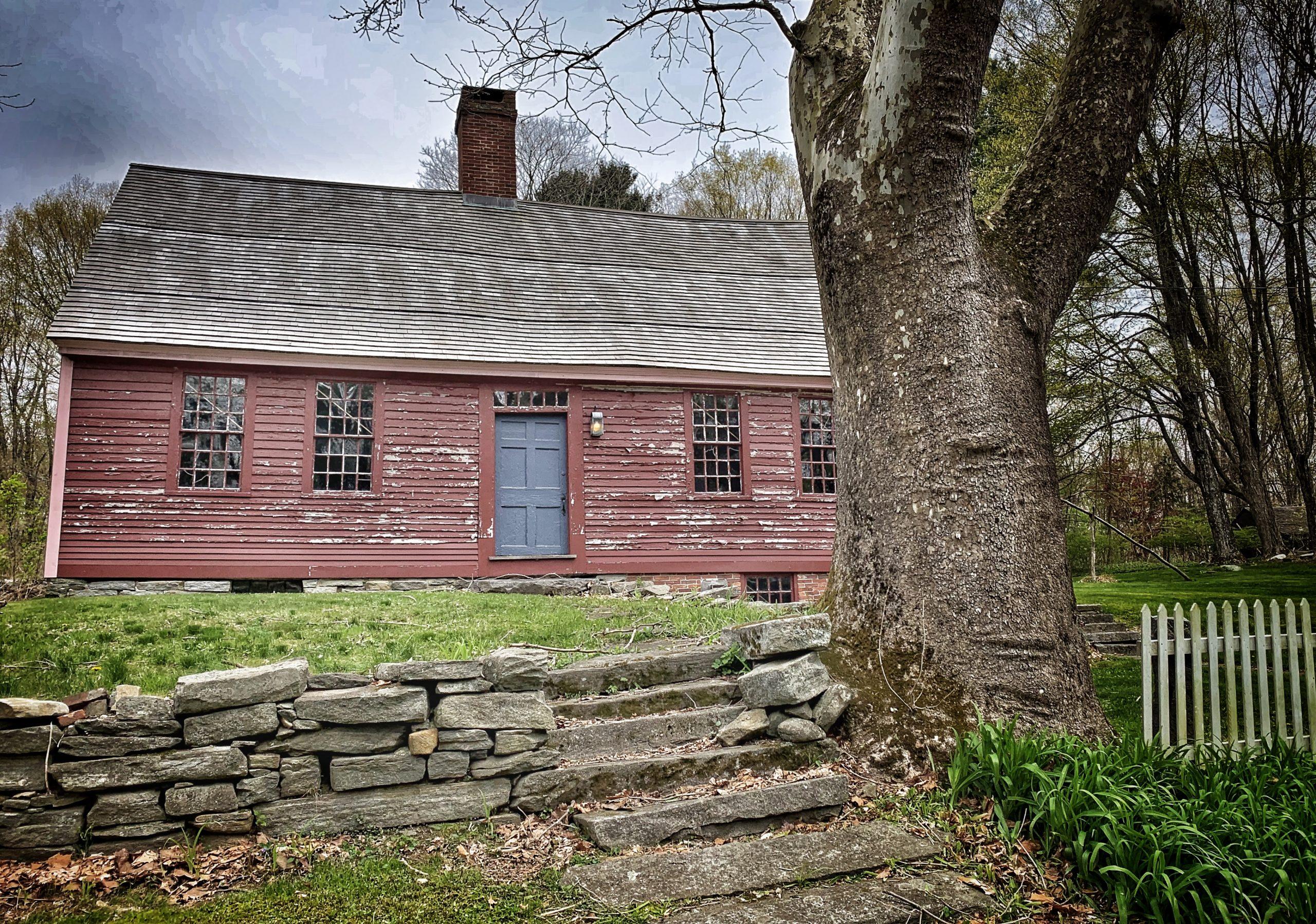 The haunted Daniel Benton Homestead in Tolland, Connecticut.