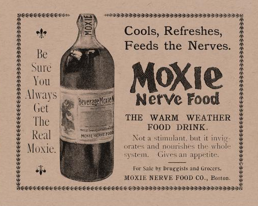 An early ad for Moxie Nerve Food.