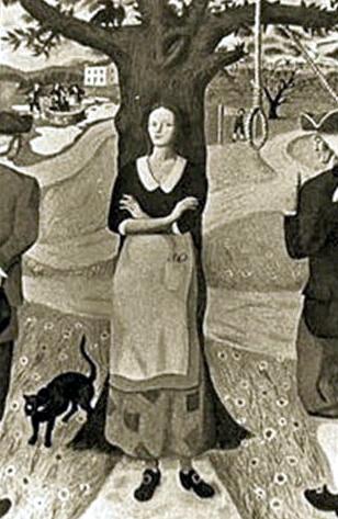 The Hanging of Bathsheba Spooner in Worcester, Massachusetts, July 2, 1778.