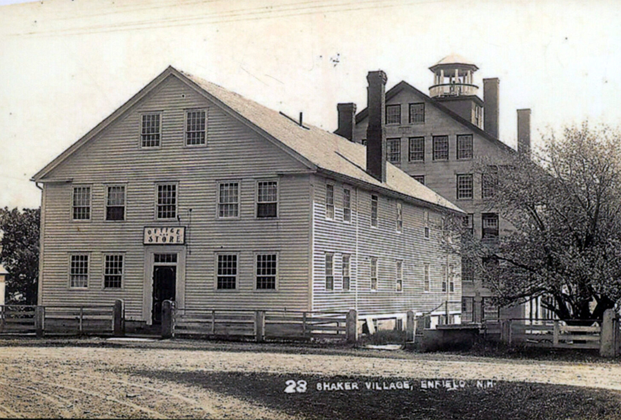 The Enfield, New Hampshire, Shaker Village circa 1860s.