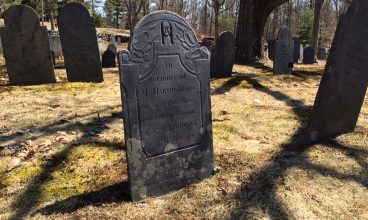 The grave of Martha Keyes, mother of Lucy.