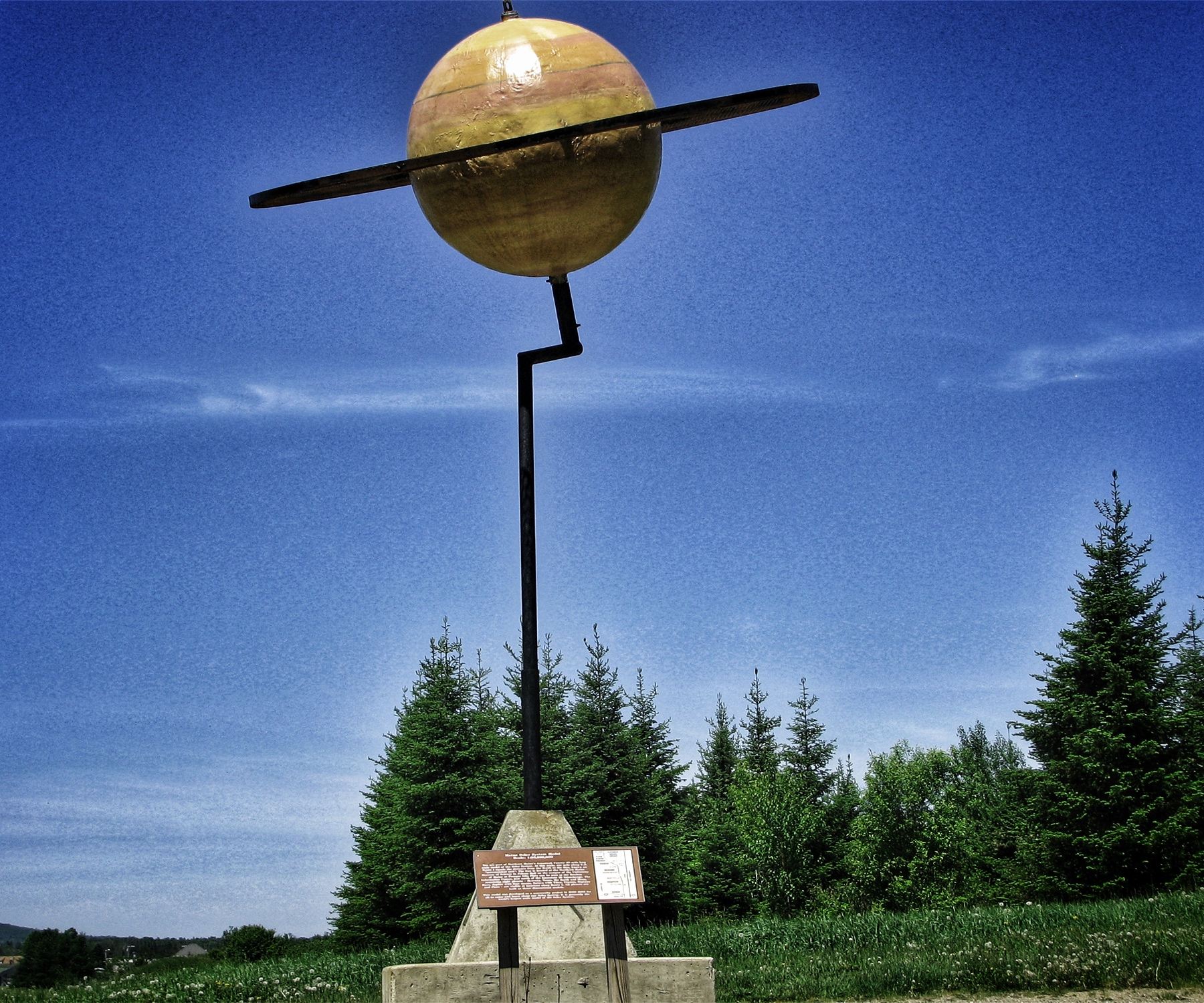 The scale model of Saturn along Route 1 in Maine.