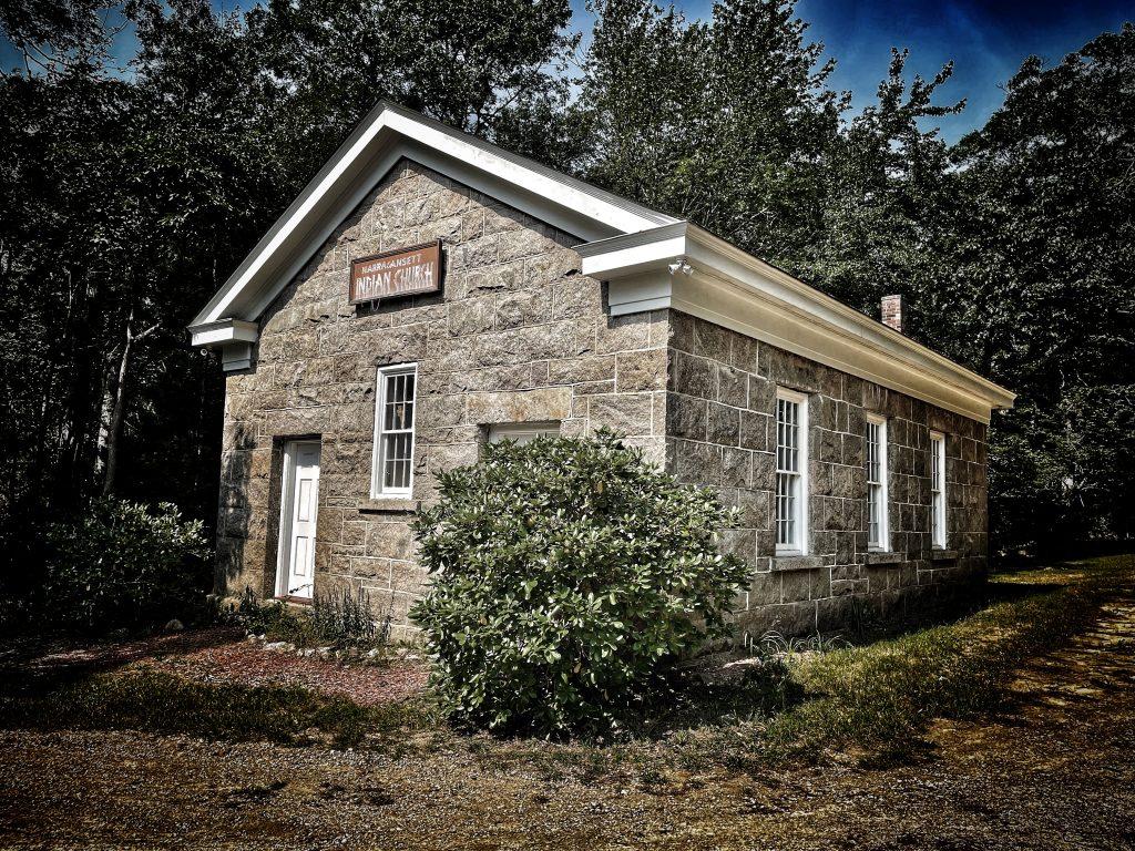 Narragansett Indian Church in Charlestown, Rhode Island.