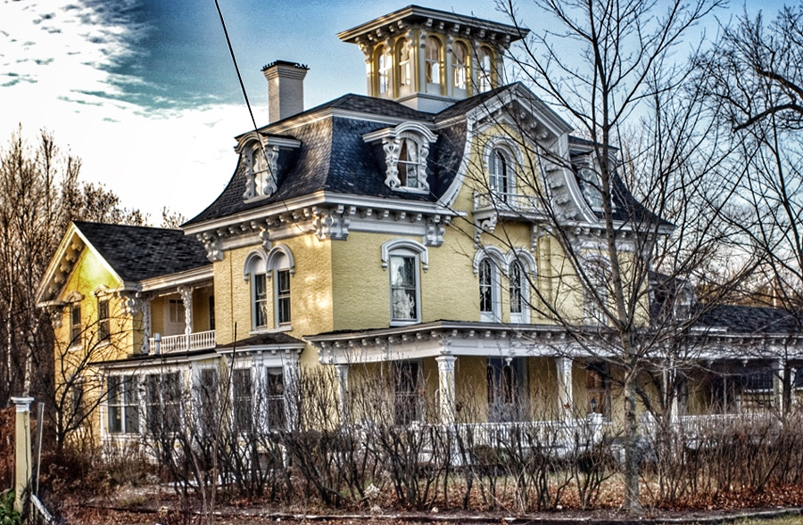 The Haunted Highgate Manor in Highgate, Vermont.