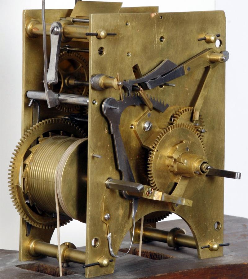 One of the earliest Hutchins alarm clocks.